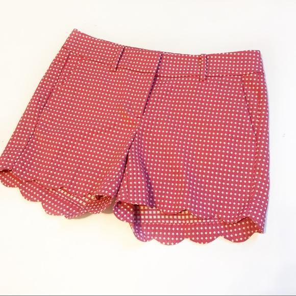 Ann Taylor Pants - NWOT Ann Taylor Signature Pink/White Scallop Short